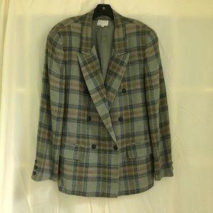 Vintage Bagutta blazer - yarn dye plaid